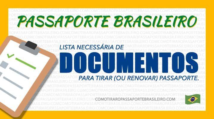 Esta imagem ilustra o post sobre os doc necessários para emissão e renovação de passaporte