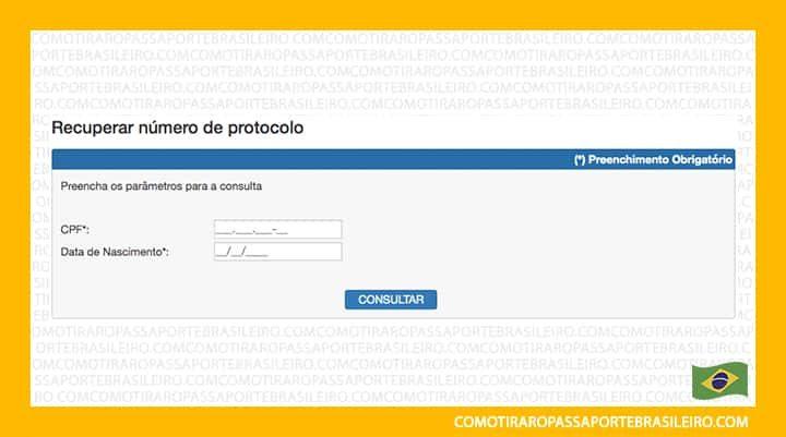 Esta imagem ilustra o passo a passo para emitir a 2ª segunda via do protocolo do passaporte brasileiro