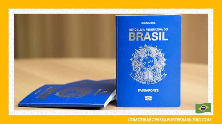 Foto divulgada pelo Itamaraty do novo passaporte brasileiro com brasão da República