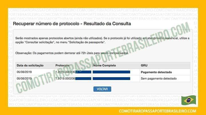 Esta imagem ilustra o post sobre como reimprimir o protocolo do passaporte.