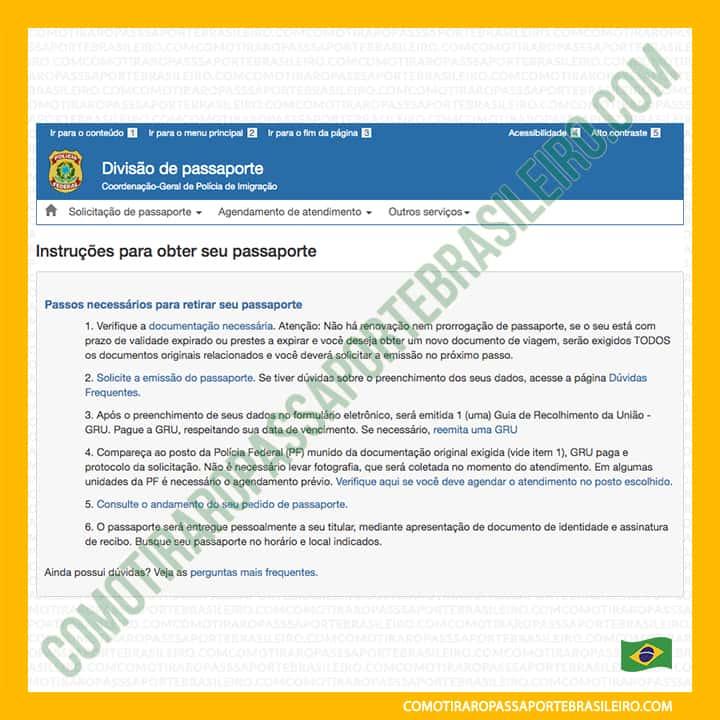 A imagem mostra a tela inicial do agendamento familiar para passaporte brasileiro