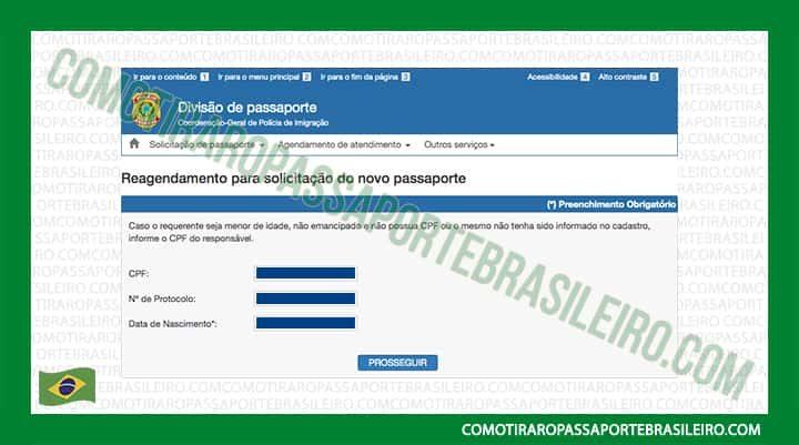 Imagem sobre a mudança de data do agendamento de passaporte