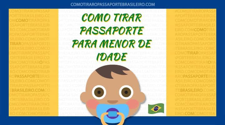 A imagem ilustra o procedimento para tirar passaporte para menor de idade