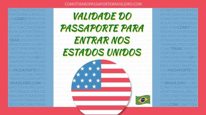 A imagem ilustra o post sobre a validade do passaporte para entrar nos Estados Unidos