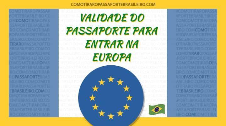 A imagem ilustra o post sobre a validade do passaporte para entrar na Europa