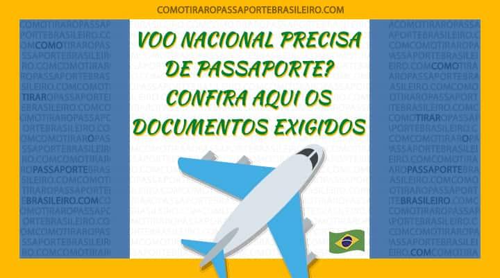 A imagem mostra se precisa ter passaporte para voo nacional
