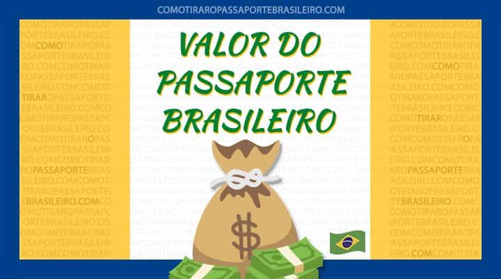 Imagem sobre o valor do passaporte brasileiro