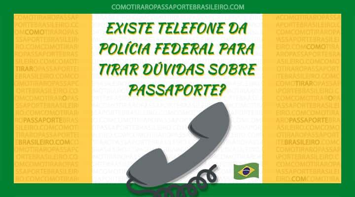 A imagem ilustra o post sobre o telefone (tel) da Polícia Federal para passaporte